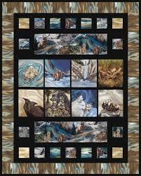 Alaska's Wild Kingdom quilt is 65