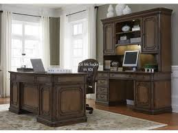 Home office set Brown Furniture Piece Jr Executive Set Goods Furniture Home Office Home Office Sets Goods Furniture Kewanee Il