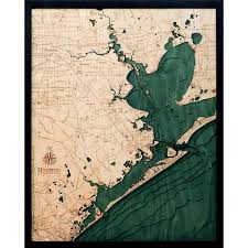 Lake Conroe Nautical Chart Houston 3d Nautical Wood Maps Map Galveston Wood