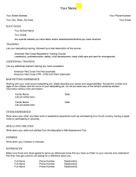 Babysitting Resume Template Enchanting Example Of Babysitting Resume Template Httpexampleresumecvorg