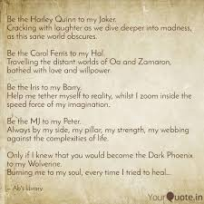 Be The Harley Quinn To My Quotes Writings By Abhra Mukherjee