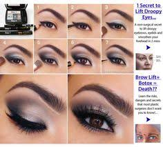 y purple eye makeup tutorial 1 secret to lift droopy eyes image for