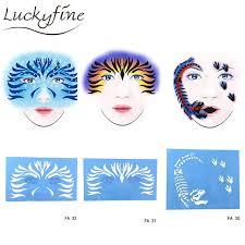 new soft reusable makeup template face paint stencil flower diy design painting tattoo makeup tool for