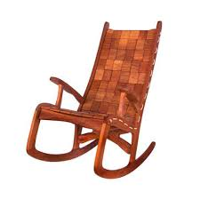 Woven Wooden Rocking Chair Chairs Brown Vermont Woods Studios Modern