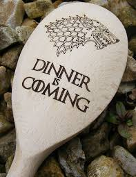 The Wooden Spoon Game Game Of Thrones Dinner Is Coming Winter Wolf Wooden Baking Spoon 38