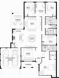 4 bedroom floor plan. 4 Bedroom Floor Plans Shiny House E Level Unique Plan Standard B