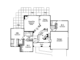 florida house plans. Southwestern House Plan First Floor - 007D-0046 | Plans And More Florida M
