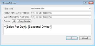 Sales Per Day Formula Campaign Analysis Seasonally Adjusted Measures Powerpivotpro