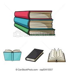 various kinds of books books set collection icons in cartoon style vector symbol stock ilration