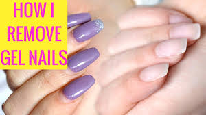 how to remove gel nails at home the