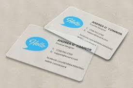 Translucent Plastic Business Cards Plastic Business Cards