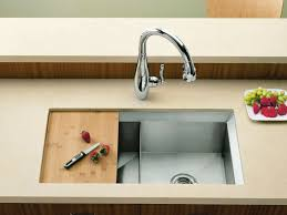 Sink With Cutting Board Standard Plumbing Supply Product Kohler K 3159 Na Poise