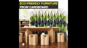 Corrugated Cardboard Furniture Furniture From Corrugated Cardboard Youtube