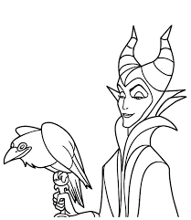 Small Picture Maleficent Maleficent Coloring Pages LineArt Fables