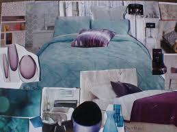 Trendy Purple Turquoise Bedroom