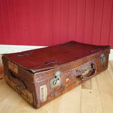 22 new pics of leather steamer trunk coffee table