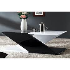 Table Basse Noir Et Blanc Laqu