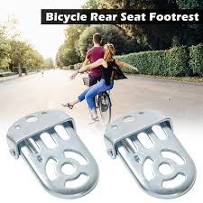Bicycle Folding Foot Rest for Kids <b>1 Pair</b> Bike <b>Rear</b> Seat Safety ...