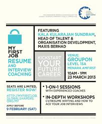 my first job resume and interview coaching session global successful applicants will be eligible to attend both sessions of the resume and interview coaching series in the first coaching session we will provide