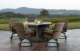 full size of patio spectacular bar height set with fire pit in stunning home design planning