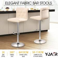 dining chairs bar stools. 2x new fabric bar stools kitchen dining chair barstool gas lift beige chairs h