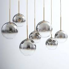 scroll to next item glass sphere chandelier 16 clear sculptural globe 7 light mixed