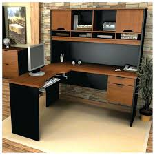 corner office desk hutch. Corner L Shaped Office Desk With Hutch Black And Cherry Naindien Pottery Barn A