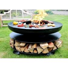 ring of logs 120 firepit with bbq ring