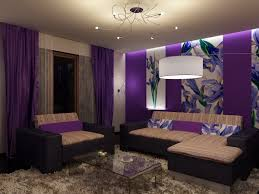 Purple Curtains For Living Room Accent Tables Tags Romantic Minimalist Interior Design Ideas For