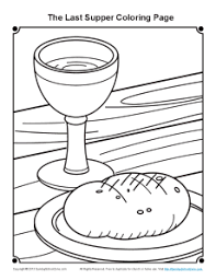 Small Picture Bible Coloring Pages for Kids The Last Supper