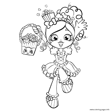 Small Picture Happy Shopkins Shoppies With Popcorn Coloring Pages Printable