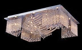 saint mossi modern crystal raindrop chandelier lighting flush mount led ceiling light fixture pendant lamp for dining room bathroom bedroom livingroom 13 x
