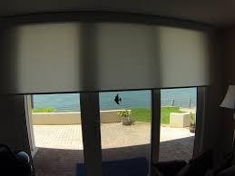 solar shades for sliding glass doors stunning light filtering motorized roller shade on door from home