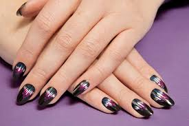 Black Nail Designs 2018 Purple And Black Nail Designs Are This Year Manicure Trends