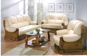 wood trim genuine leather sofa attractive with black chic and couch recliner