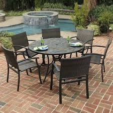 slate patio table home styles stone harbor in piece slate tile top round patio dining sets