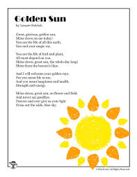 Poems About Shining Your Light Golden Sun Poem About Summer Summer Poems Sun Poem Kids