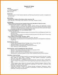 9 Resume Work Experience Prefix Chart