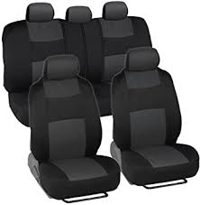 BDK PolyPro Car Seat Covers, Full Set in Charcoal on ... - Amazon.com