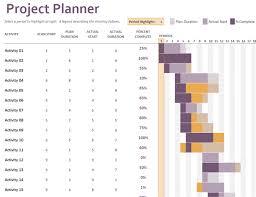 Gantt project planner - Office Templates