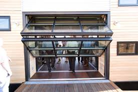 Stylish Modern Glass Garage Doors with Delighful Clear Glass Garage