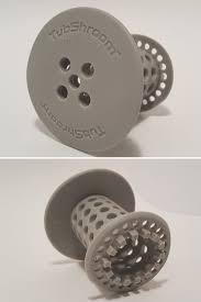 bathtub drain strainer hair catcher hair catcher detail top and bottom view