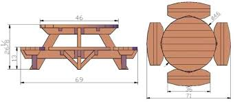 round wood picnic table childs wooden picnic table with umbrella childrens picnic wooden table bench