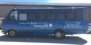 riverbend signworksvehicle advertisingvehicle wraps bus decals for lularoe lisa ann and sunny hill boutique in bettendorf iowa