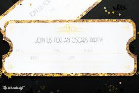 Printable Oscars Party Invitations Hey Lets Make Stuff