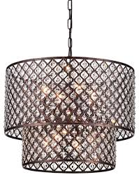 mariella 8 light crystal double shade chandelier antique copper