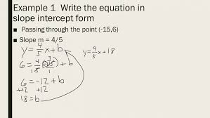 writing equations in slope intercept form 4 2 what you equation worksheet sl slope intercept form