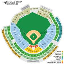 Nationals Park Seating Chart Nationals Park Seating