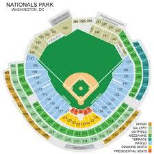 Nationals Baseball Seating Chart Nationals Park Seating Chart Nationals Park Seating