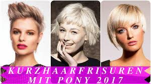 Kurzhaarfrisuren Mit Pony 2017 Youtube